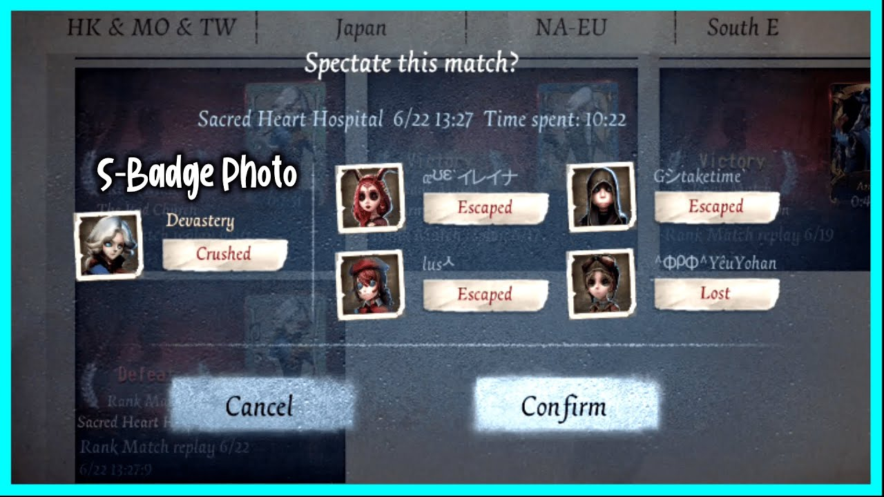 【Identity V】I force myself to rank when my connection is bad