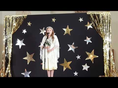 11 year old girl sings Edelweiss at church concert