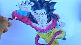 Como Desenhar Goku Super Saiyajin 4 Dragon Ball Gt Desenha