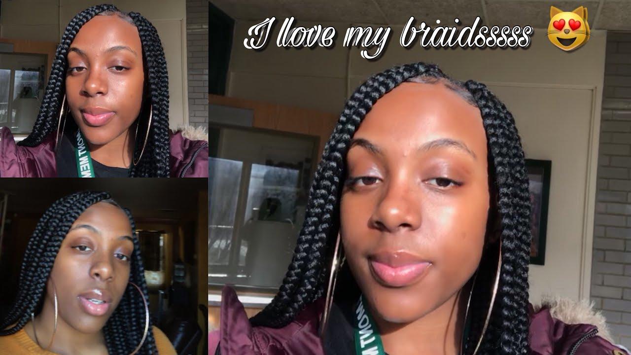 a3b6d53923c I did my own box braids!!! Butt length 😻 - YouTube