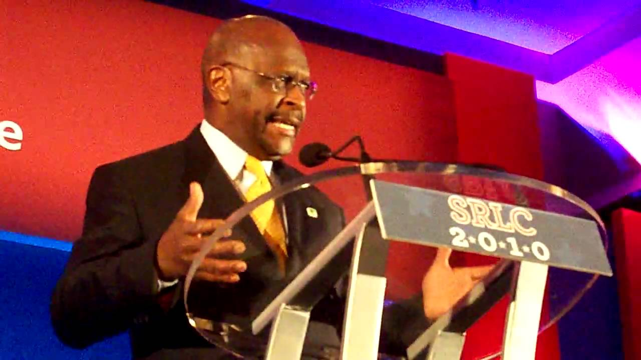 Herman Cain speaking at the SRLC 2010 - YouTube