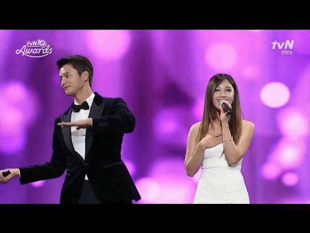 REPLY 1997 BONSANG + All for you (live) - Jung Eun Ji & Seo In Guk @ tvN10 Awards 161009