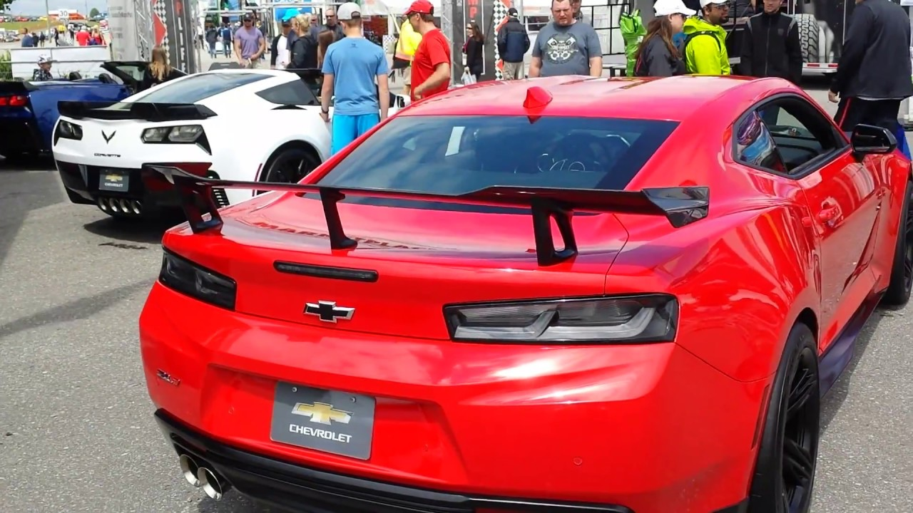 2018 Camaro Zl1 1le Red Walk Around At Mosport Ctmp Youtube