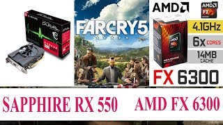 Far Cry 5 Benchmark RX 550 AMD FX 6300 Ultra | High | Normal | Low