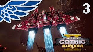 BATTLEFLEET GOTHIC ARMADA 2 | Tau Protector vs Eldar Corsairs Part 3 - BFG Armada 2 Beta Gameplay