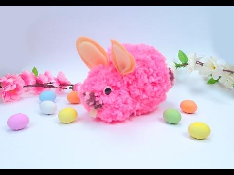 Come Realizzare Un Coniglietto Di Pasqua Con La Lana Youtube