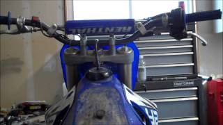 How to remove the gas tank on a dirt bike