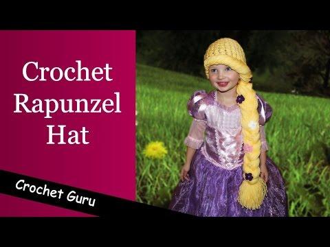 dc796e65f92 Crochet Rapunzel Hat Pattern - Crochet Hat Pattern - YouTube