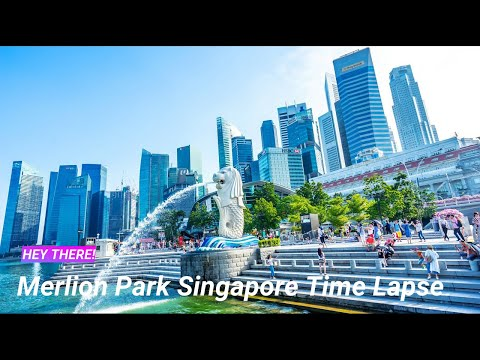 Merlion Park Singapore Hours Time Lapse Iconic Historical Merlion Singapore