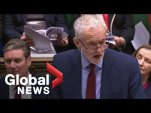 UK opposition leader Jeremy Corbyn slams Brexit draft agreement and May statement