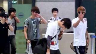 [Fancam] 110725 BEAST (비스트) Yoseob's Punishment @ Incheon Airport back from Malaysia