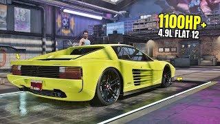 Need for Speed Heat Gameplay - 1100HP+ FERRARI TESTAROSSA COUPE Customization | Max Build