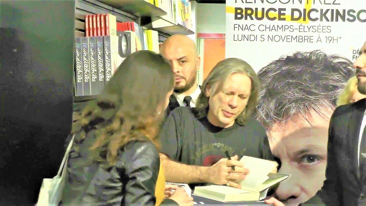 Bruce Dickinson De Iron Maiden Dedicace Son Livre A La Fnac Champs Elysee Paris 5 Novembre 2018