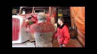 Restauratie bijzondere Henschel vrachtwagen