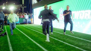 Who Ya Got? Deion Sanders vs. Dan & The Danettes in a 40 Yard Dash (2/2/17)
