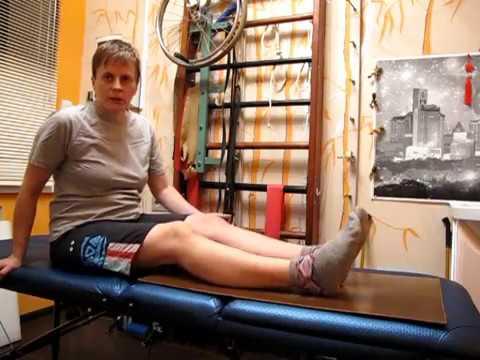 Как разработать коленный сустав в домашних условиях после гипса