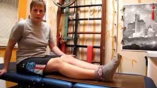 Разработка ноги после снятия гипса 1 / Development of the foot after removal of plaster