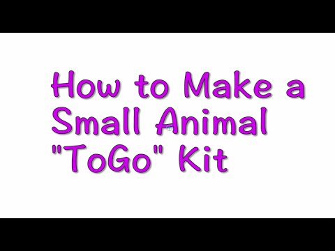 Small Animal ToGo Kit