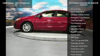 2013 Subaru Impreza 4dr Auto 2.0i Premium