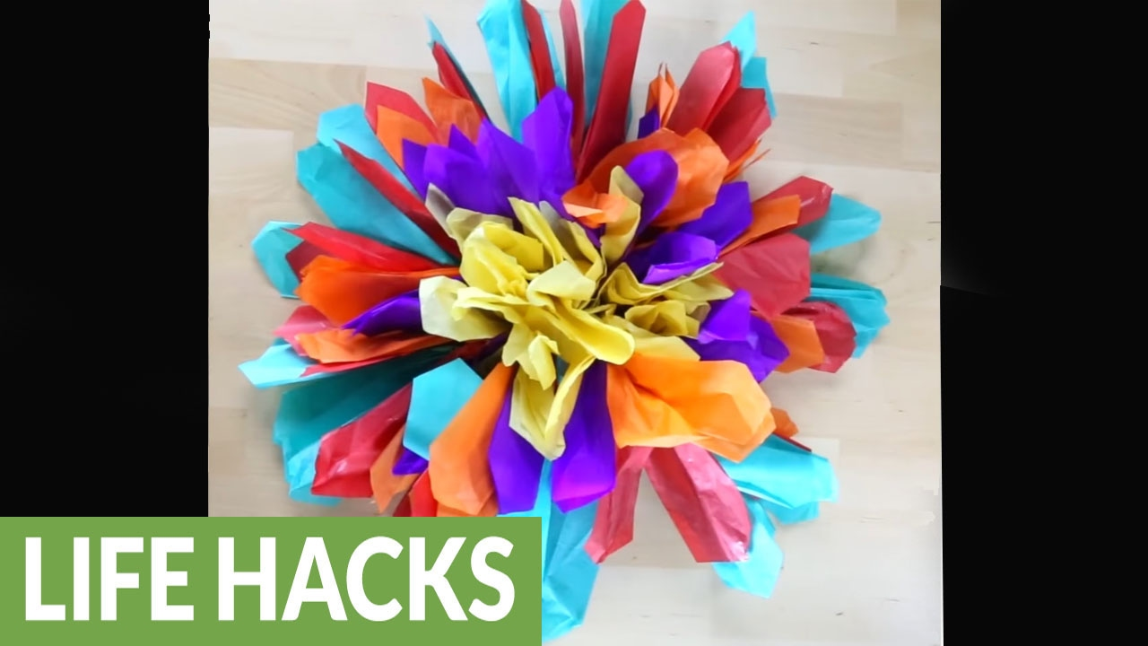 How To Make Your Own Festive Paper Flowers Youtube