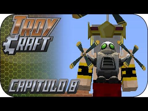 TroyCraft - Ep 8 - ¡Sois mis aldeanos! Obtenemos el Heli-Pack [Minecraft]