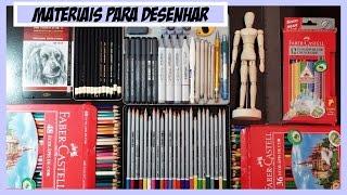 Materiais para Desenho. Video especial 100.000 inscritos (Drawing Materials)