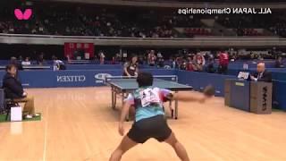 全日本卓球2018|大会3日目ダイジェスト|男子シングルス3回戦 左右を...