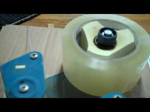how to load a packing tape dispenser