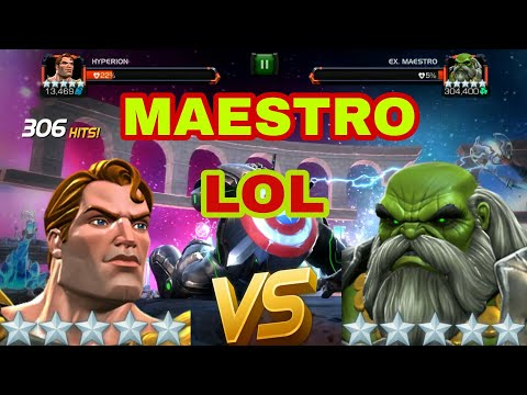 5 Star Hyperion vs Maestro : Labyrinth of legends | Marvel contest of chmapions