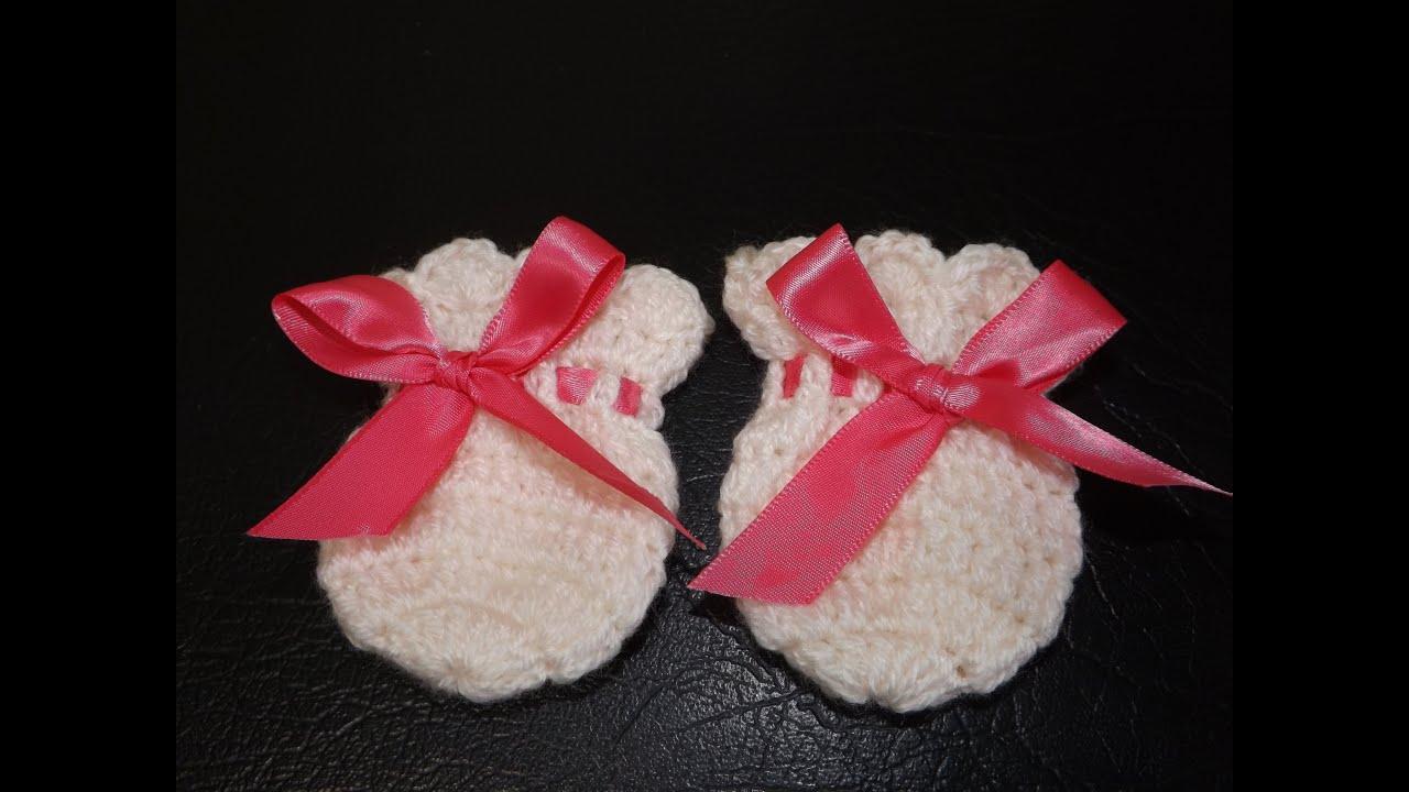 Crochet Guantesitos para Bebe\' - YouTube