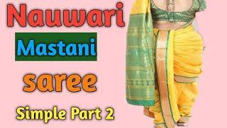 So Erstellen Sie eine Nauvari mastani saree ( Abschnitt - 2 )