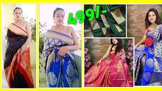 Amazon saree haul / Amazon silk saree haul / amazon saree starting 499