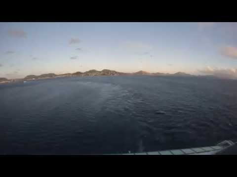 Basseterre, St. Kitts - Jewel of the Seas Departure Time Lapse HD (2015)