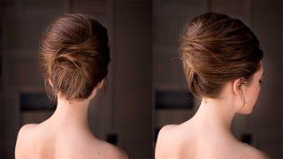видео Причёска ракушка на средние волосы