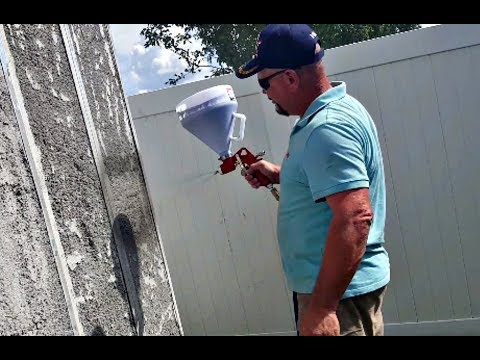 Spraying Aircrete ON Wall Panels