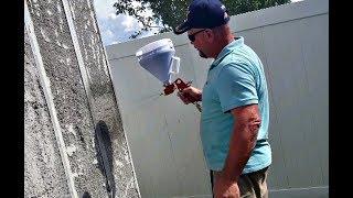 Spraying Aircrete ON Wall Panels