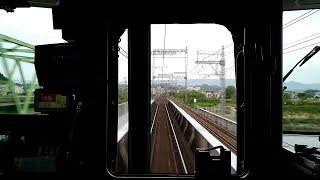 【近鉄一般特急 大阪線の山間部を疾走 ビスタカーと連結していてもなんにも違和感が無い 伊勢中川~名張】