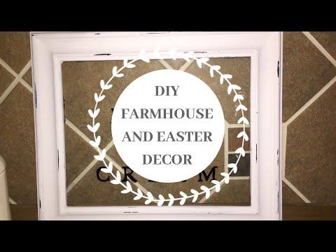 DIY AFFORDABLE FARMHOUSE AND EASTER IDEAS//DOLLAR TREE HOME DECOR DIY//EASTER 2019