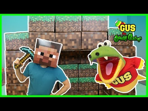 Minecraft In Real Life Steve Enderman Creeper and Gus