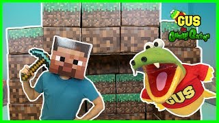 Minecraft In Real Life Steve Enderman Creeper and Gus the Gummy Gator thumbnail