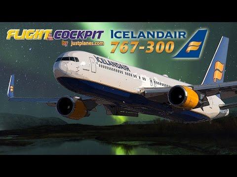 Icelandair 767-300 Cockpit with Captain Ingvar