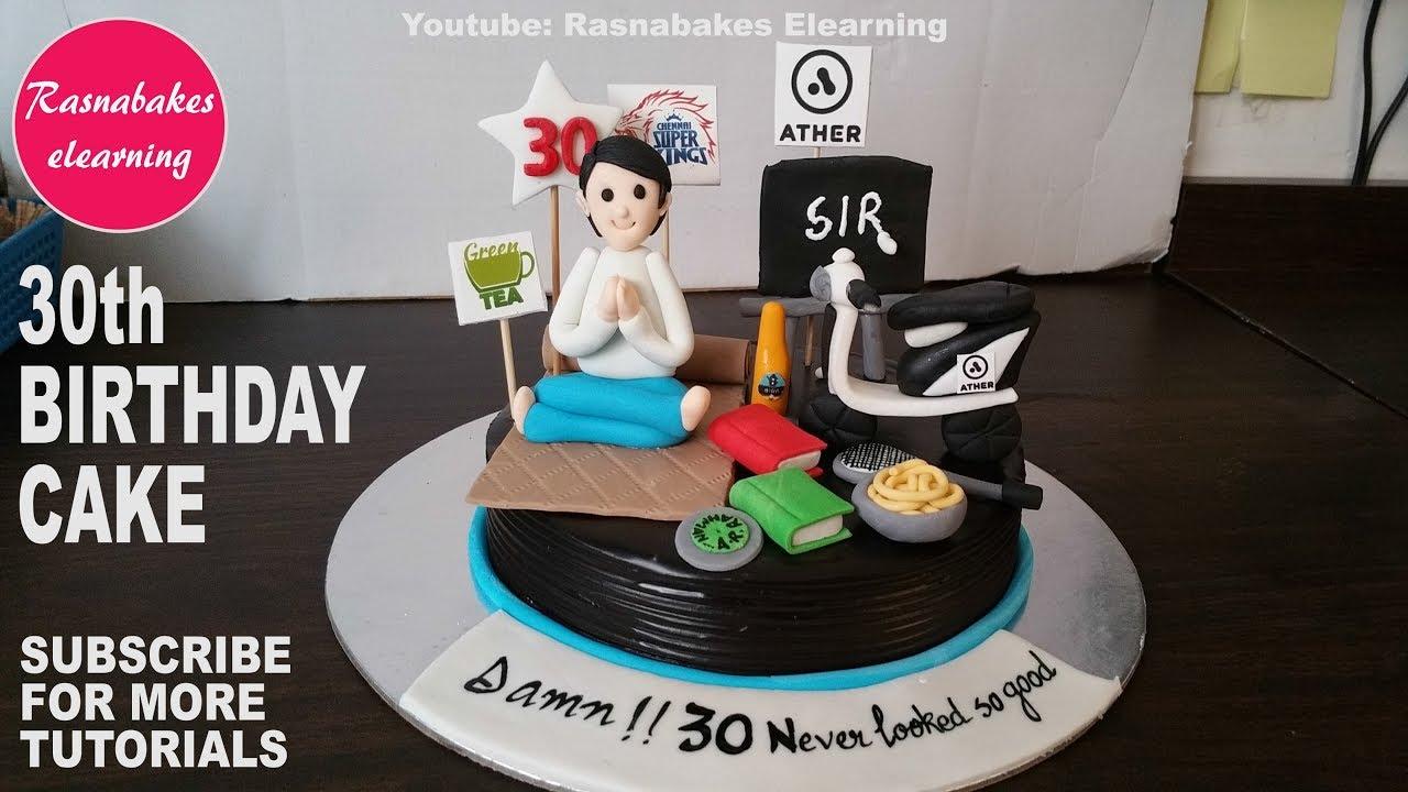 Happy Birthday Husband Boyfriend Male Friend Brother Bhaiya Son Men 30th Birthday Cake Designs Ideas Youtube