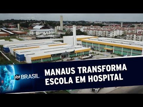 Prefeitura De Manaus Transforma Escola Em Hospital De Campanha | SBT Brasil (13/04/20)