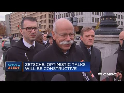 Daimler CEO arrives at White House for auto meeting