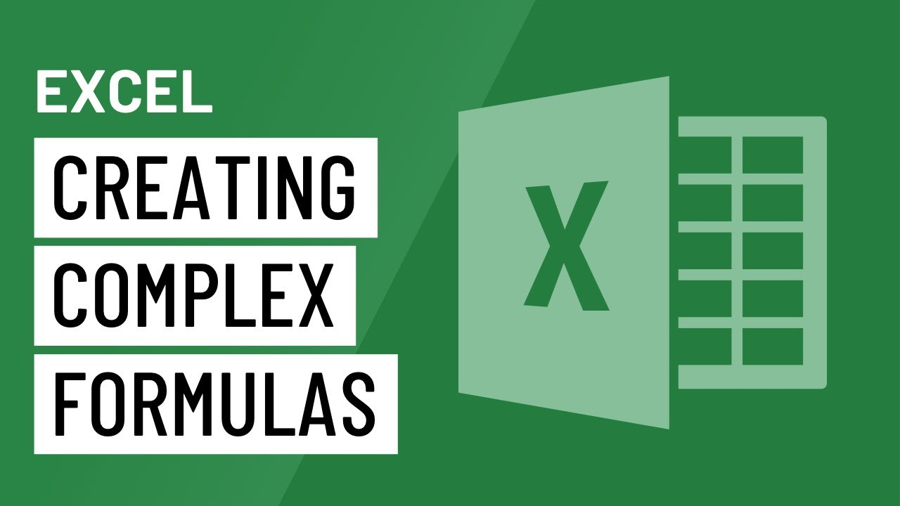 excel 2016 creating more complex formulas youtube