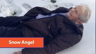 85 Year Old Snow Angel