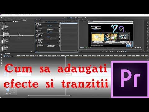 Adobe Premiere - Cum sa adaugi efecte si tranzitii clipurilor (Tutorial) thumbnail