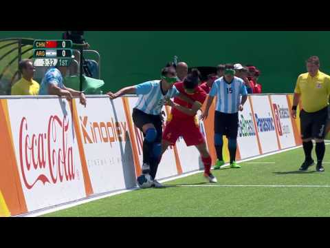 Football 5-a-side China vs Argentina  | Preliminary Match 10 | Rio 2016 Paralympic Games