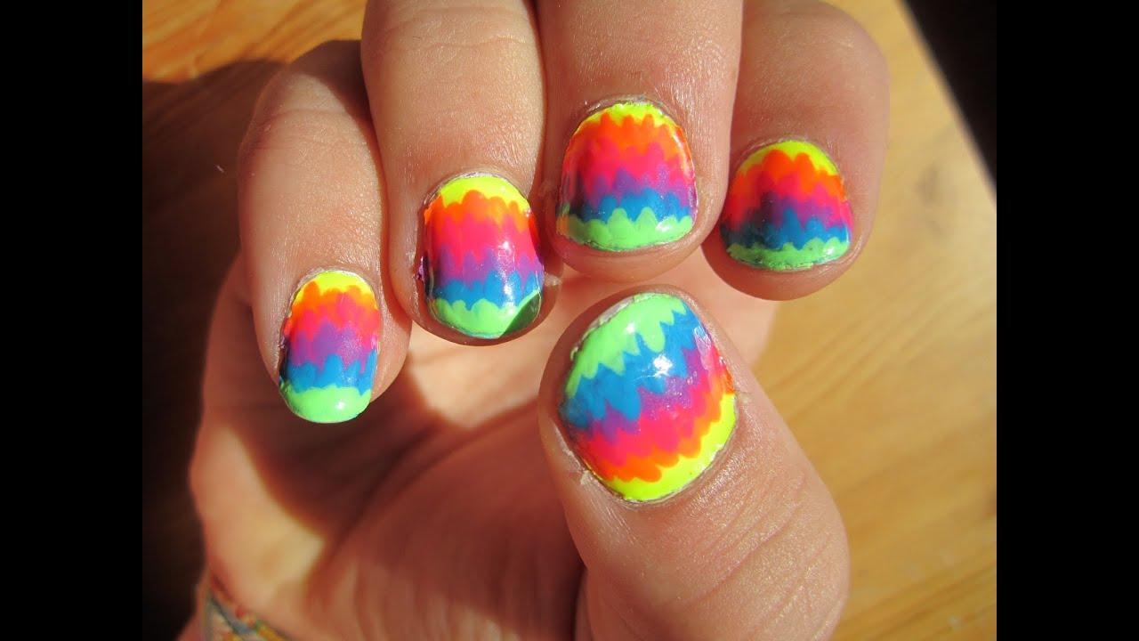 Decorado de u as de arcoiris con esmalte youtube - Decorados de unas ...
