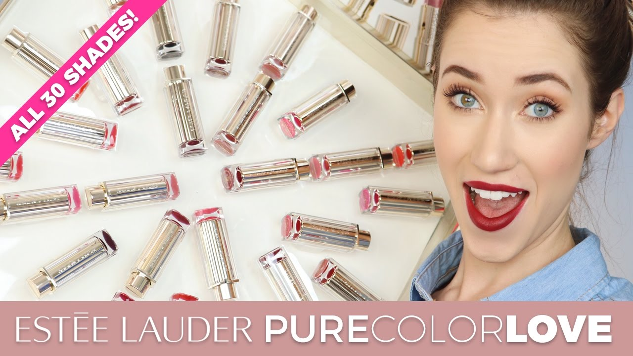 ESTEE LAUDER PURE COLOR LOVE LIPSTICK SWATCHES | ALL 30 SHADES | ALLIE G BEAUTY